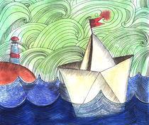 paper ship by Anna Ivanova