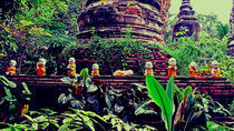 9 little Buddhas standing on a wall by Jack Knight