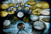 Drumset in a junkyard by Barun Gurung