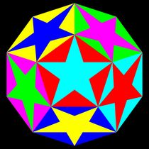 half dodecahedron stars by Chandler Klebs
