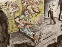Guitar man by Martin Sierra