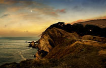 Moon over Stair Hole by Mal Smith