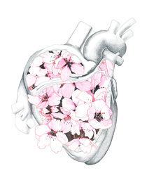 Blossom Burst Heart von Edward Blake Edwards