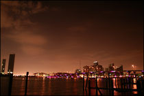 Miami Skyline at Night II by Troy Marshall
