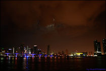 Miami Skyline at Night I by Troy Marshall