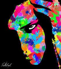 Adriana Lima Abstract Painting by Daniel Holdback