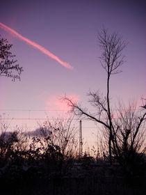 railroad pink cloud 2 by Gabriele  Nolte