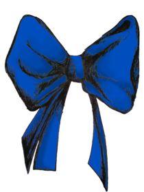 Blue bow by ello-elle