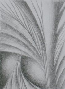 abstrakte Formgebung VI by Katja Finke