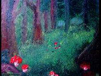 Waldlichtung mit Pilzen von Kerstin Schuster