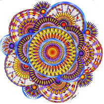 Candy Corn Harvest Mandala von Alma  Lee