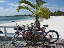 Strandidylle mit dem Rad von Baerbel Nitychoruk