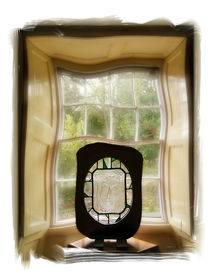 Glass face mask and window 1 by Chris Atkinson