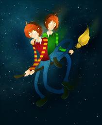 Weasley twins by Veronica Orellana