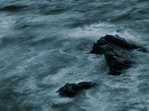 Deep blue ocean with rocks by Jozef Zidarov
