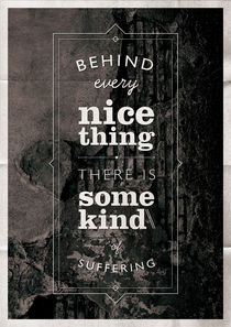 Behind nice things