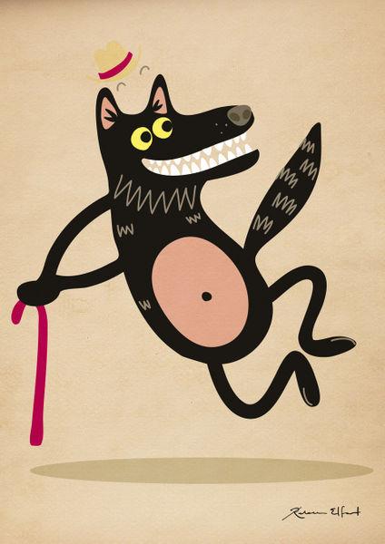 Tapdancing-wolf