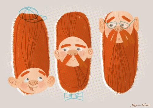 Facial-hair-generations
