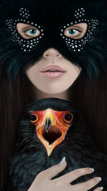 Girl with Eagle by Masoud Rezaeipoor
