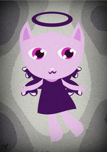 purple angel kitty by Nimas Arum