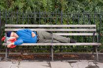 Man Sleeping on Bench by Michael Bastianelli