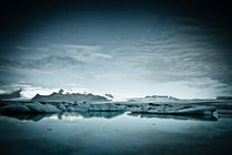 Blue Ice in Iceland by Camille garcia