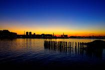 Sunset at Boston Harbour  by wayne pilgrim