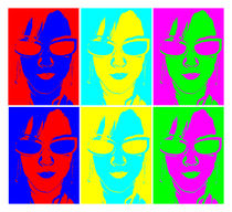 Pop Art - Glasses by Michael Bastianelli