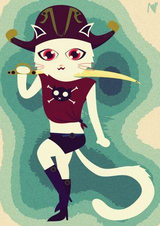 Cat-pirates
