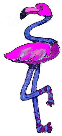 Flamingo-with-neck-and-leg-warmers