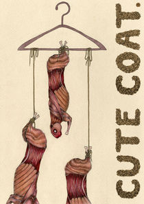 Cute Coat Anti-fur factory poster by Kara Lambert