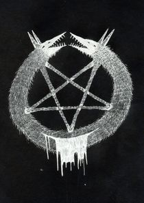 Two-headed Dog Pentagram by Bretton Kreye
