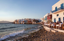 Mykonos Town at Sunset von Colin Miller