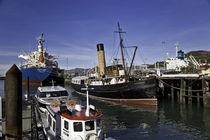 Ships in Lyttenton harbor New Zealand by michal gabriel