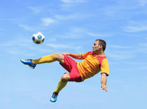 Acrobatic soccer player by Radu Razvan