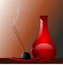 Red Vase and Incense von Tim Seward