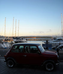 Classic MIni at Poole Quay by Andrew Lanfear