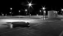 Parking lot at night by fbphoto