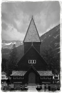 Stavkirker vintage by Maximiliano Galain