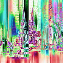 Köln Skyline Collage by Städtecollagen Lehmann