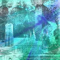 München Munich Skyline von Städtecollagen Lehmann