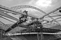 Steel structure of Wembley Stadium during construction by michal gabriel