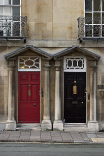 Traditional house entrance door in Oxford, England by michal gabriel