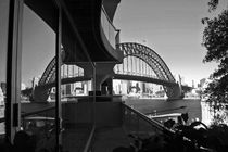 Sydney Harbour Bridge reflection in the window by michal gabriel