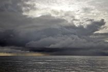 Stormy clouds over sea von michal gabriel