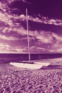 Katamaran am Strand von dresdner