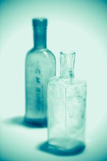 Alte Flaschen türkis von dresdner