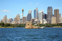 Sydney City Skyline view from the water  by michal gabriel