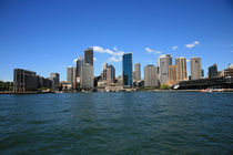 Sydney City Circular Quay view from the water  by michal gabriel