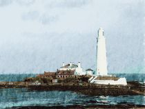 St Marys lighthouse from the pages of the past 1 by Chris Atkinson